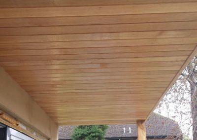Haddenham hardwood ceiling